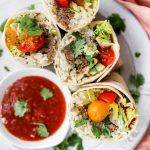 Carnitas Burritos with Creamy Cilantro-Lime Rice