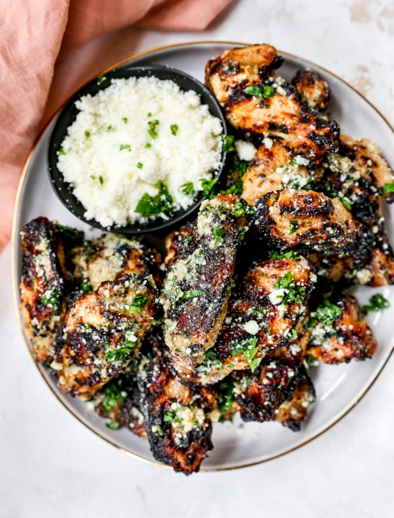Grilled Cacio e Pepe Chicken Wings