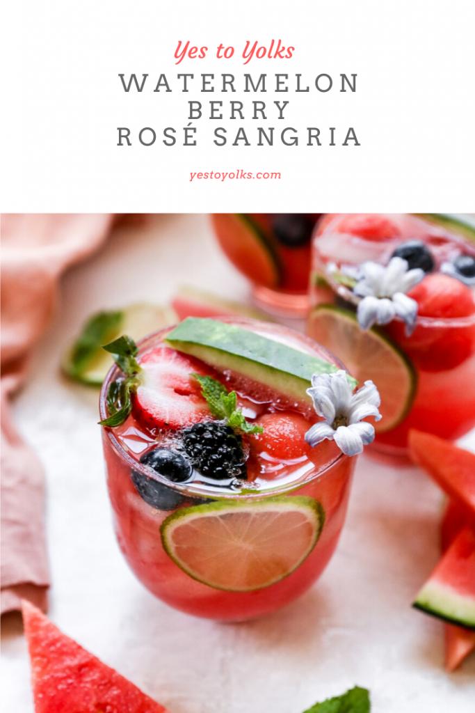 Watermelon Berry Rosé Sangria