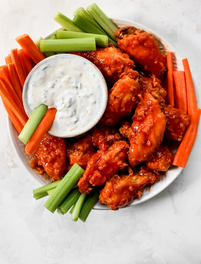 Hot Honey Buffalo Wings with Cucumber Ranch