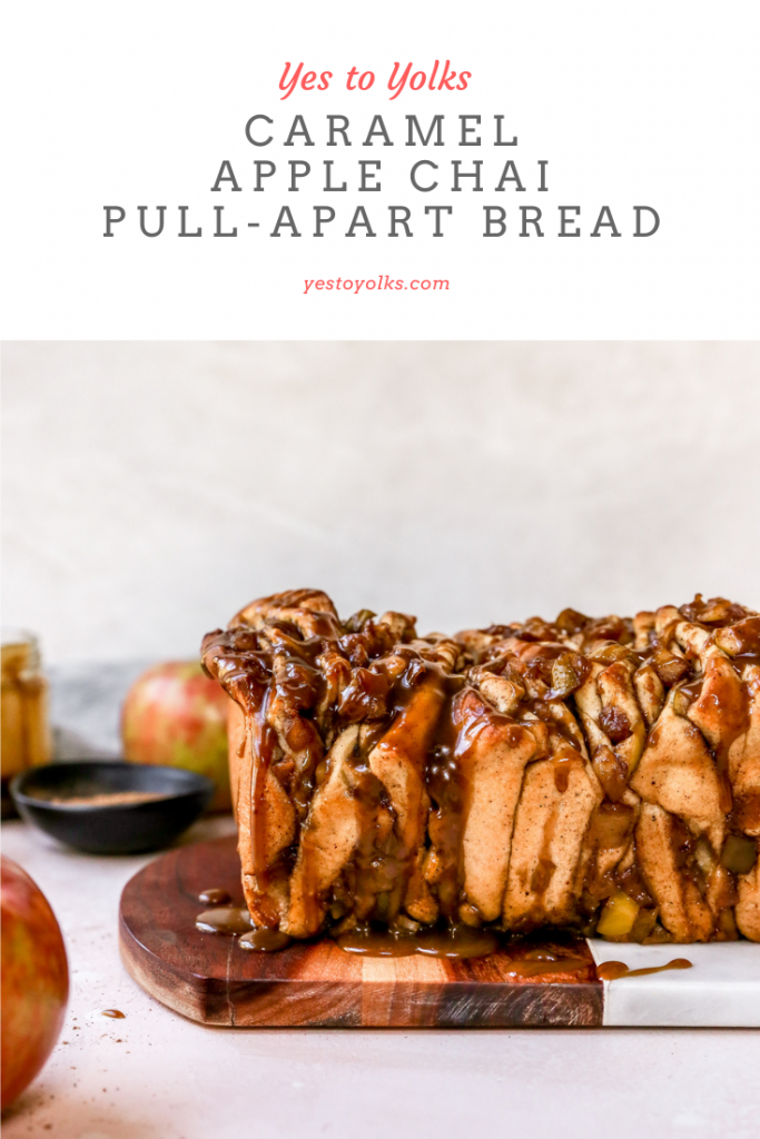 Caramel Apple Chai Pull-Apart Bread