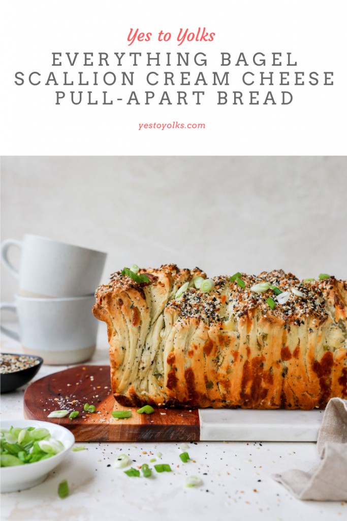 Everything Bagel Scallion Cream Cheese Pull-Apart Bread
