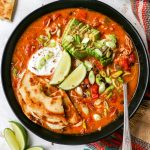 Chicken Taco Soup with Quesadilla Dippers