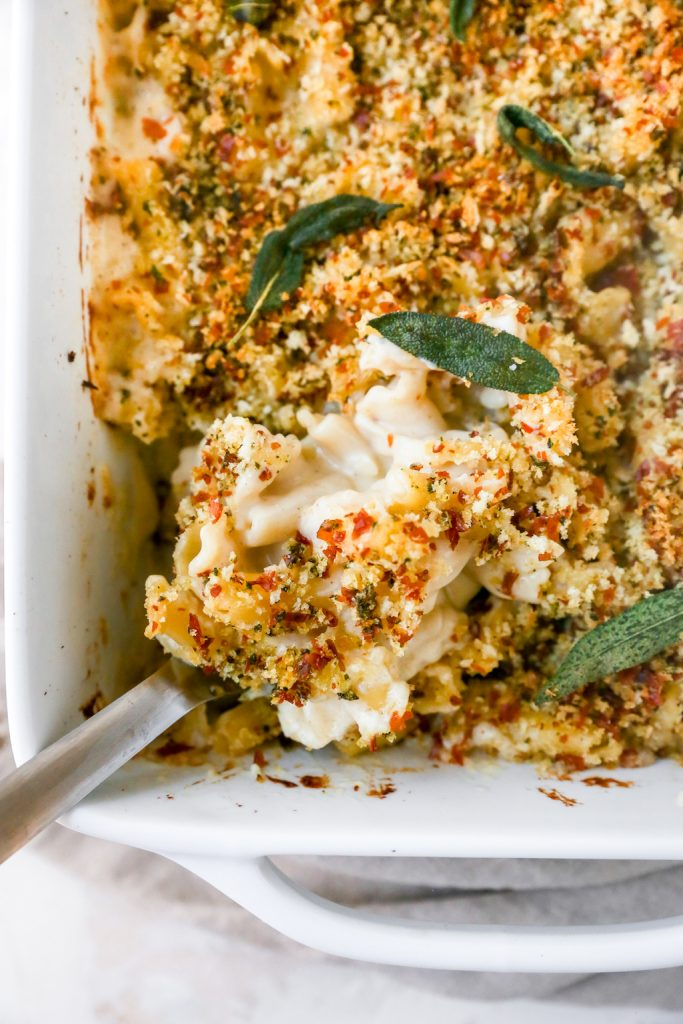 Mac & Cheese With Prosciutto Sage Breadcrumbs