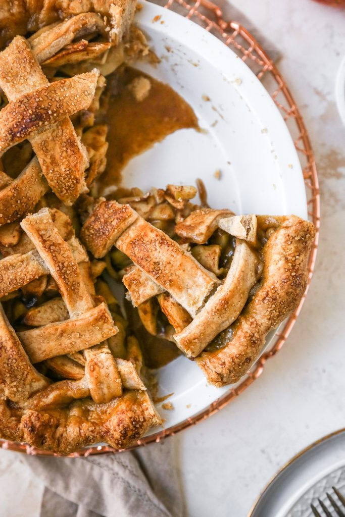 Salted Caramel Apple Pie with Spiced Crust