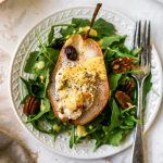 Honey & Feta Stuffed Roasted Pears