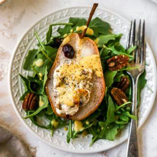 Honey & Feta Stuffed Roasted Pears