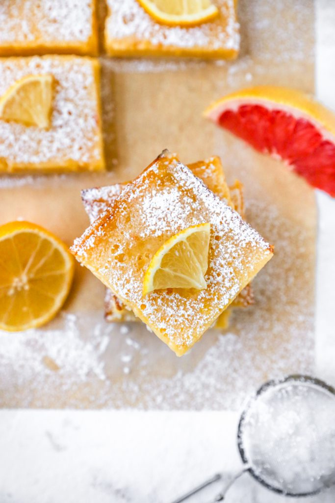 Grapefruit Lemon Bars