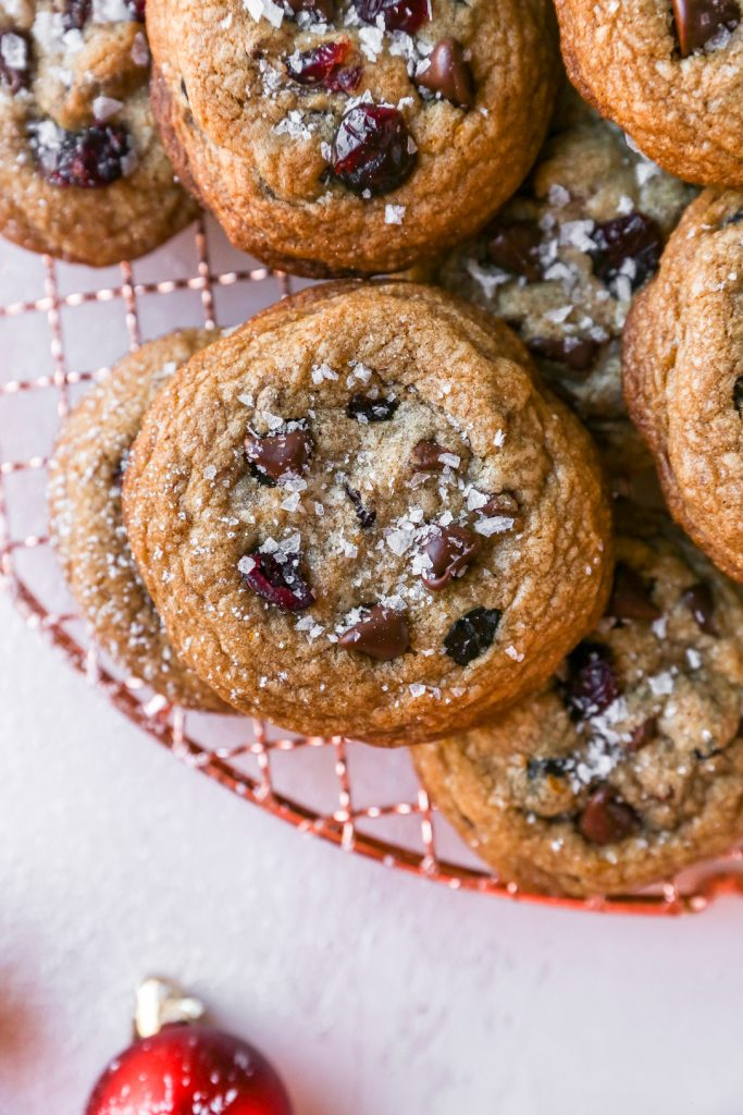 Brown Butter Chocolate Chip Cookies with Orange & Cranberries