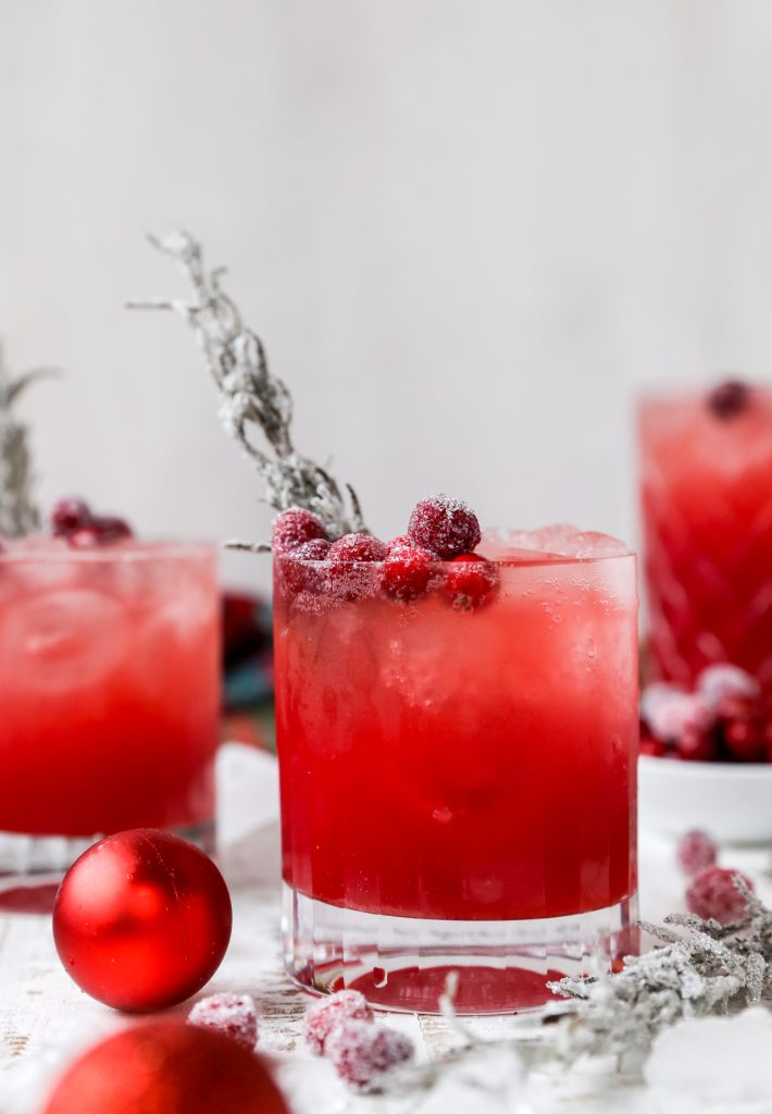 Spiced Maple Red Cranberry Bourbon Spritzer