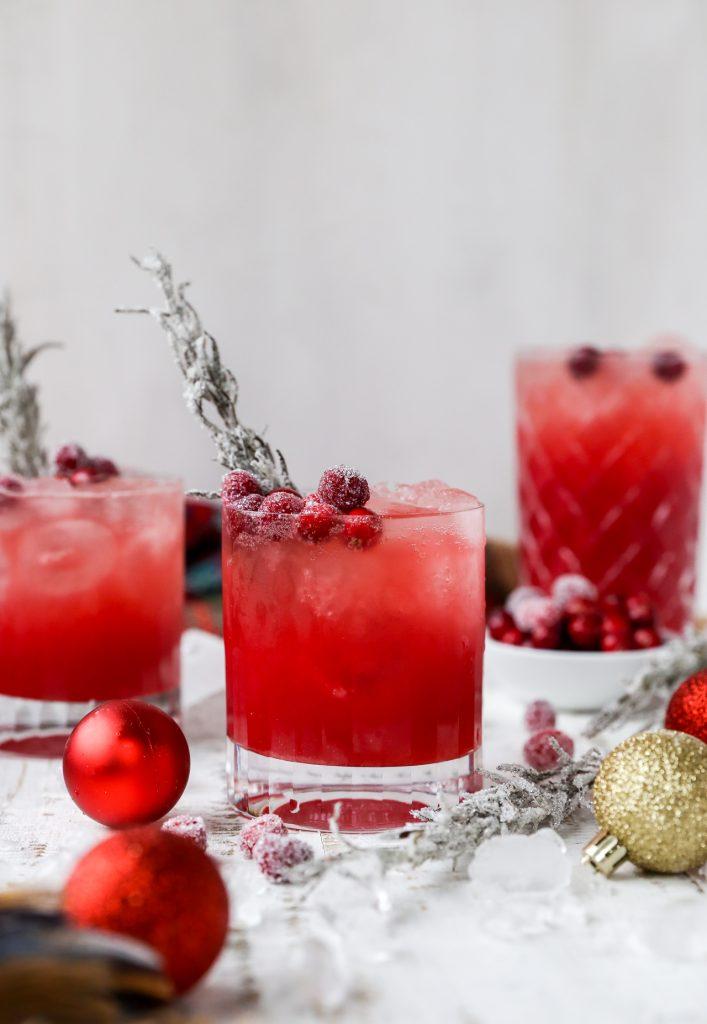 Spiced Maple Red Cranberry Bourbon Spritzer