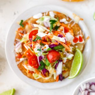Buffalo Chicken Tostadas with Limey Slaw