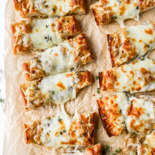 French Onion French Bread Pizzas