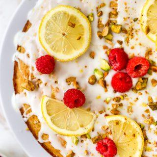 Pistachio Lemon Olive Oil Cake