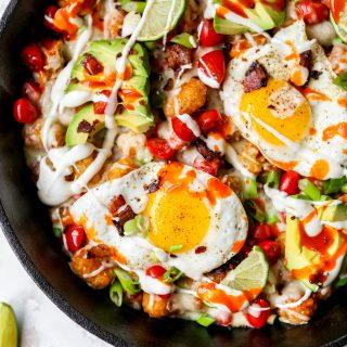 Breakfast Taco Totchos Skillet