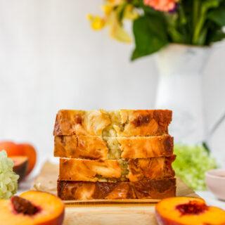 Peaches & Cream Swirl Quick Bread