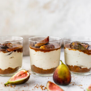 No-Bake Cheesecake Cups with Caramelized Figs