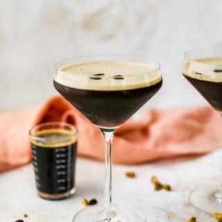 Pistachio Espresso Martinis